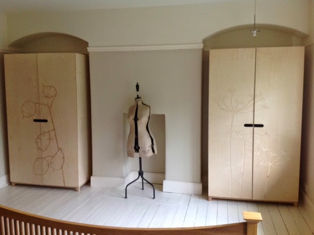 We Delivered These Two Wardrobes Yesterday Made Entirely From Birch Plywood They Feature Very Unusual Doors Have Been Designed By The Customers