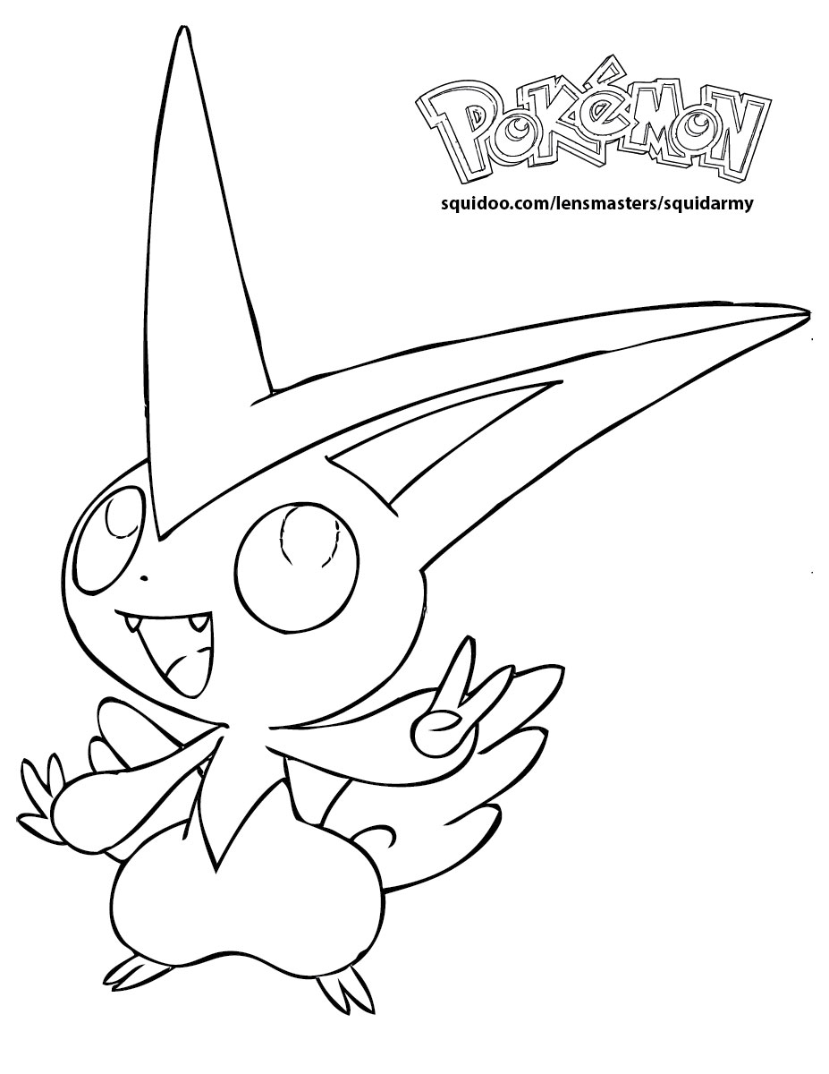Pokemon Coloring Pages Squid Army