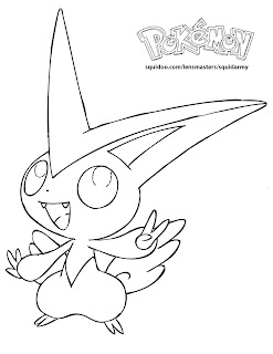 Pokemon Coloring Pages Victini