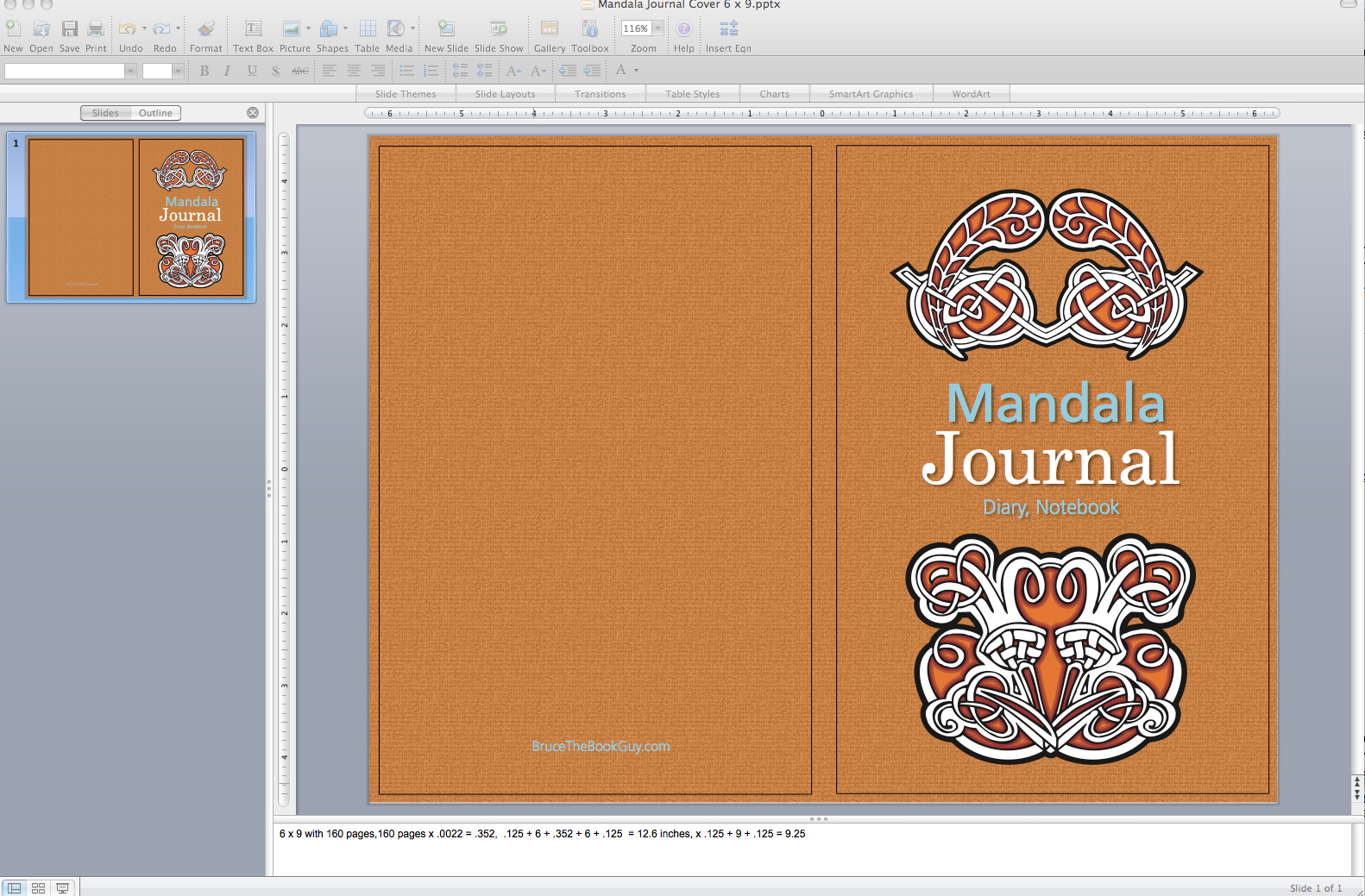 Book Cover Template Powerpoint : Bruce the book guy building a journal using