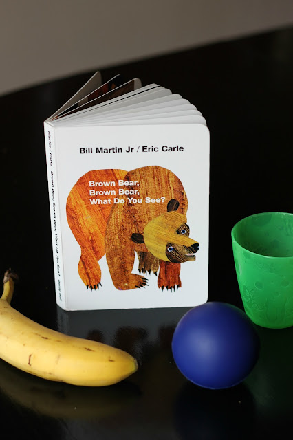 Color identification game for Brown Bear, Brown Bear, What Do You See? by Bill Martin Jr.