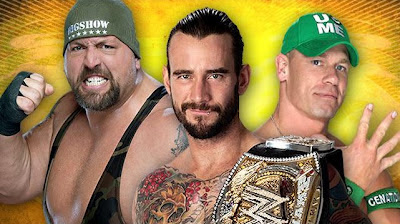 Un gigante vs cm punk vs un ex campeon  john cena
