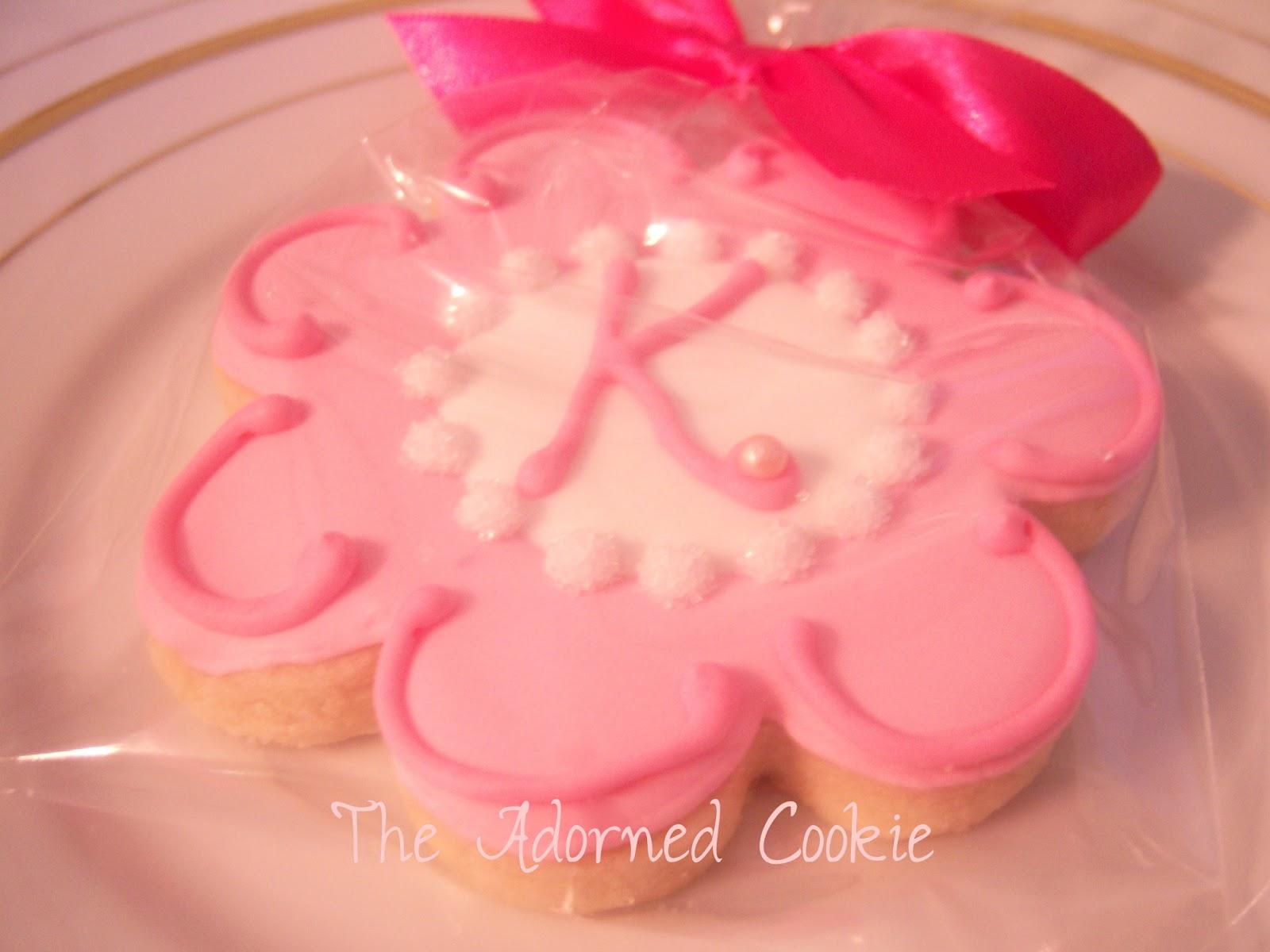 The Adorned Cookie: Sweet Sixteen Monogram Cookies
