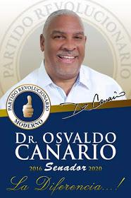 Dr. Osvaldo Canario Senador, la diferencia, 2016-2020 PRM