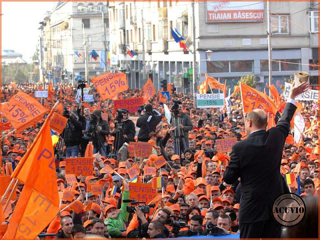 Funny photo Traian Basescu Campania electorala