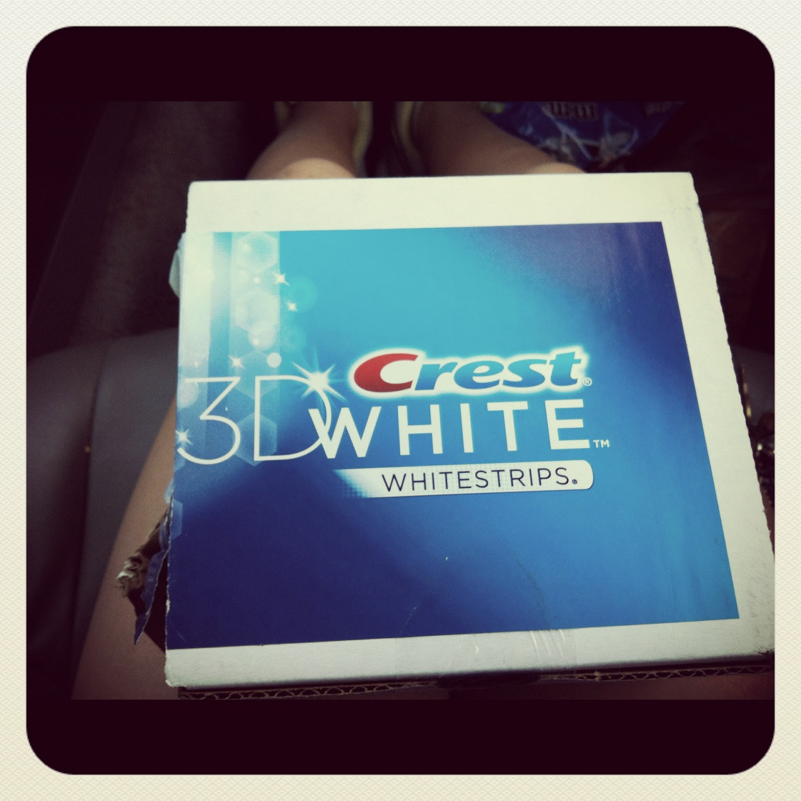 Received 3d white whitestrips with a whitening power of 4 there