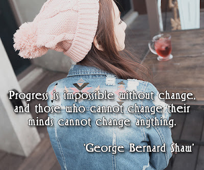 facebook Poste image quotes (Progress is impossible without change... )
