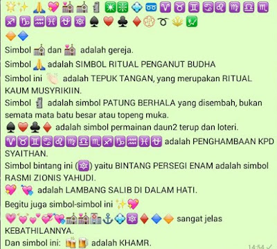 anda muslim, simbol whatsapp ini jangan anda gunakan