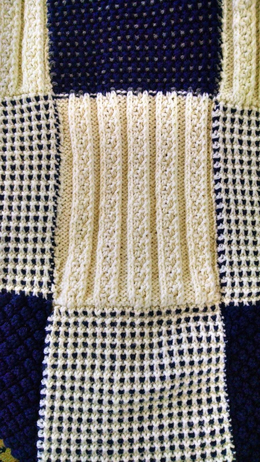 Textured Afghan | Knit A Bit Crochet Away