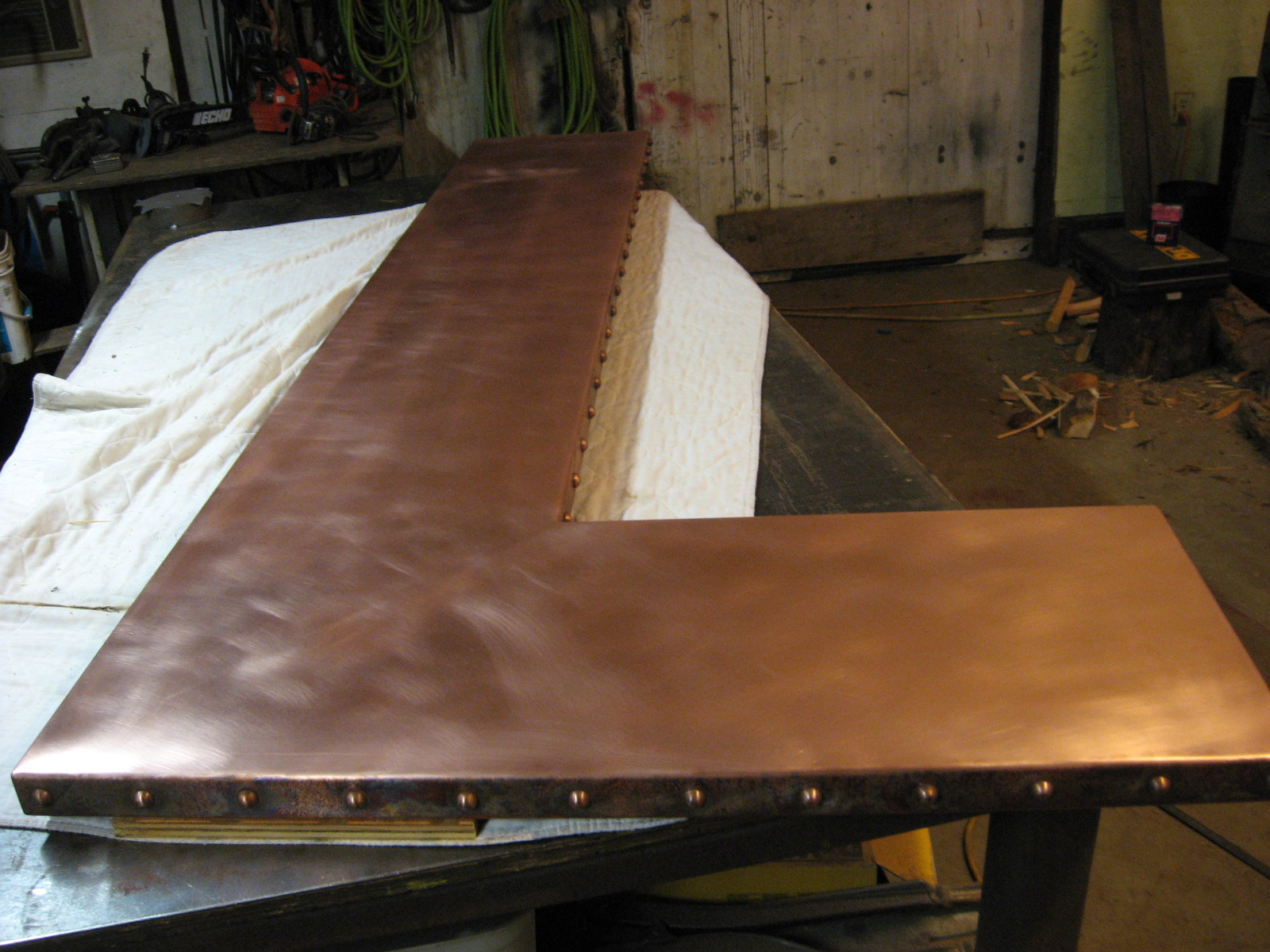 Heavy metal works copper bar counter top for What to use for a bar top