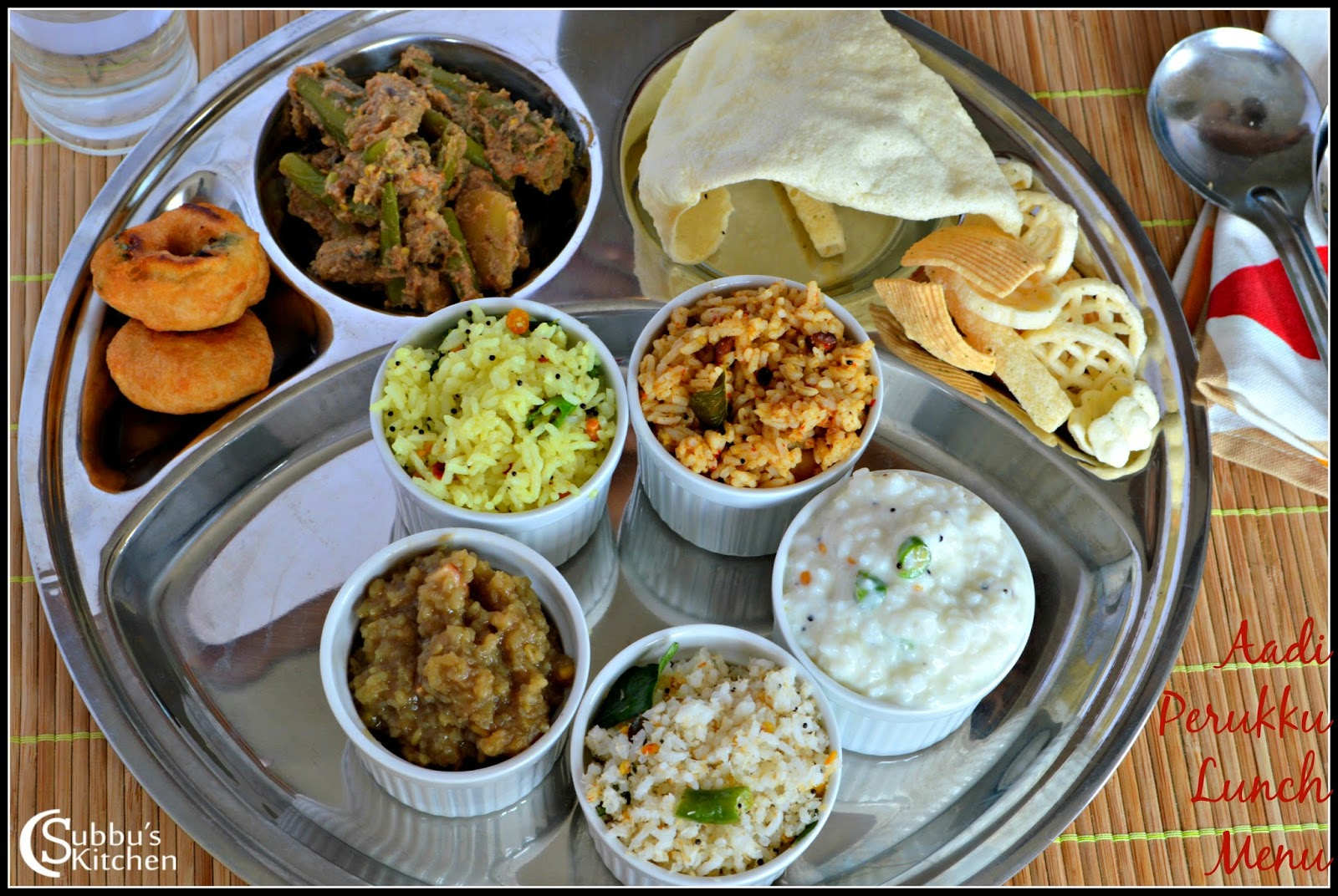 Aadi Perukku Lunch Menu