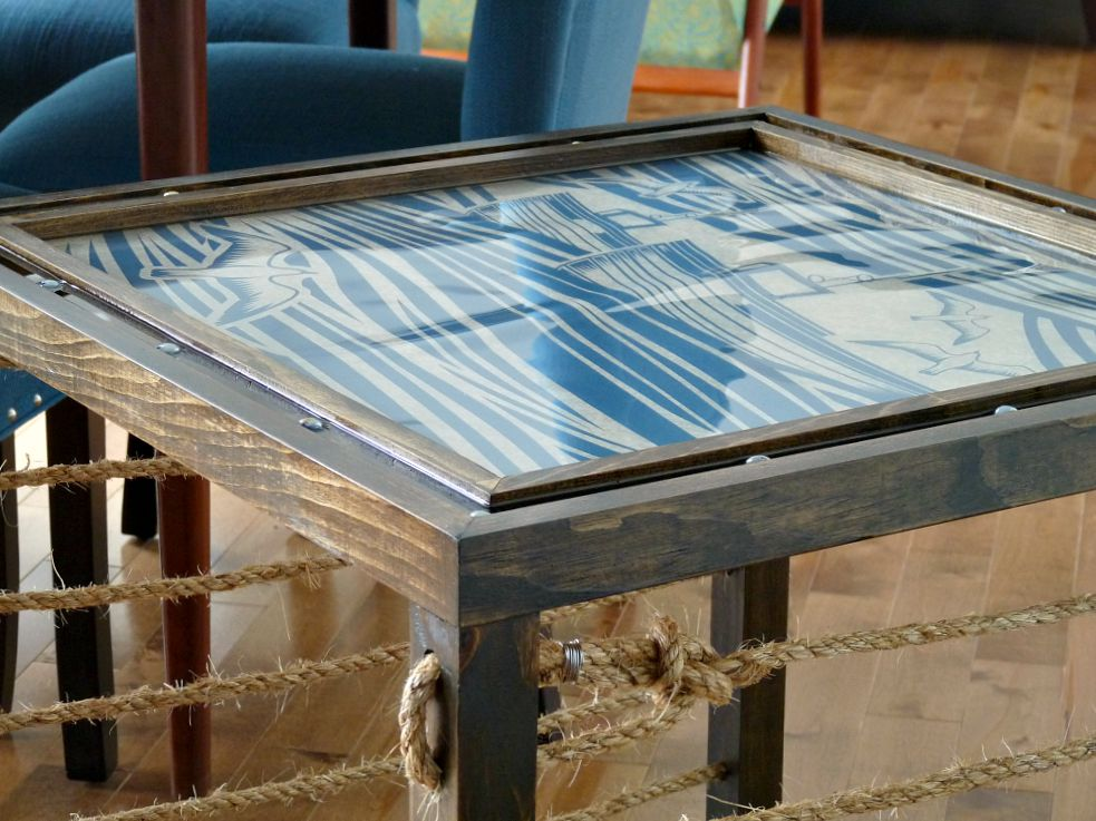 A Nautical Inspired Diy Accent Table Dans Le Lakehouse