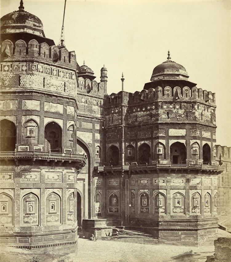 Delhi Gate of Agra Fort - Agra c1860's