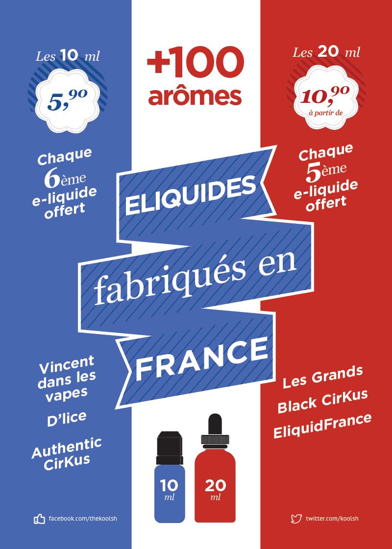 Infographie des e-liquides de la boutique à Brest