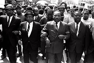 Dr. King marches in Memphis