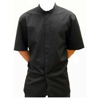 Ampliar imagen :  Casaca Cocina Manga Corta color negro - NORVIL