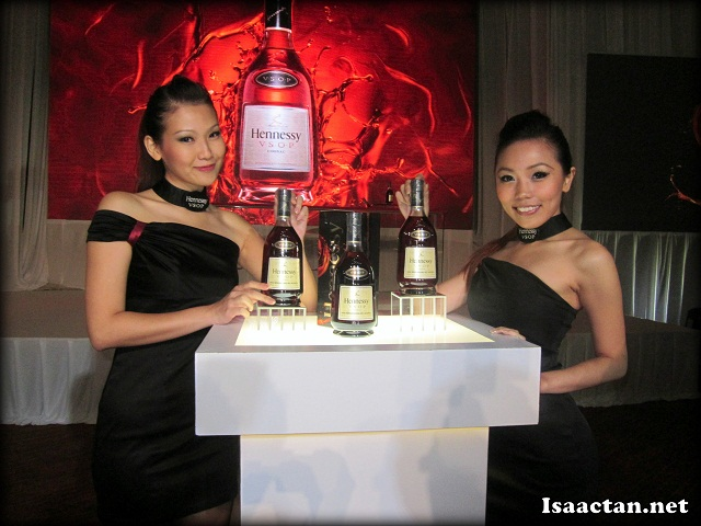 Beautiful ladies unveiling the latest Hennessy VSOP bottles
