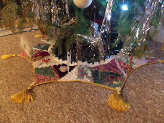 The Beaded Needle Crazy Quilted Tree Skirt