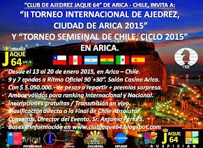 II INTERNACIONAL CIUDAD DE ARICA 2015 Y SEMIFINAL DE CHILE 2015