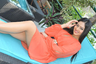 Nikesha Patel Lovely Orange Short Skirt Spicy Unseen Pictureshoot