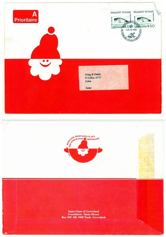 envelopes from santa claus