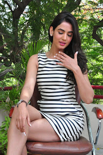 Actress Sonal Chauhan  Pictures in Short Dress at Pandaga Chesko Interview  0119