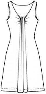 Vestido mod. 114 revista Burda Style