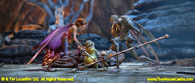 Marianne and the Bog King face off in Strange Magic