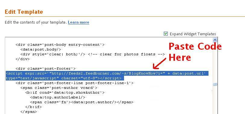 paste code here