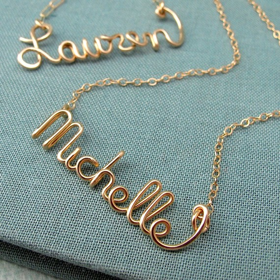 Ashes of Laughter: Currently Loving: Wire Name Jewelry