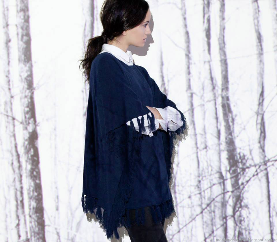 Núcleo otoño invierno 2015. Ponchos moda otoño invierno 2015.