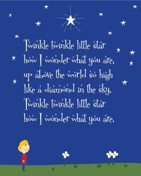 Twinkle Thrinkle 6 0000 LIT-TLE STAR, TRAD HOW