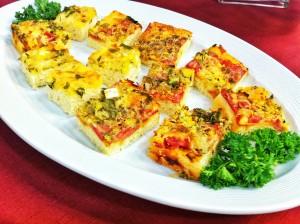 Pizza diferente para aperitivo