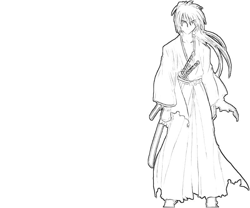 printable-kenshin-himura-samurai-coloring-pages