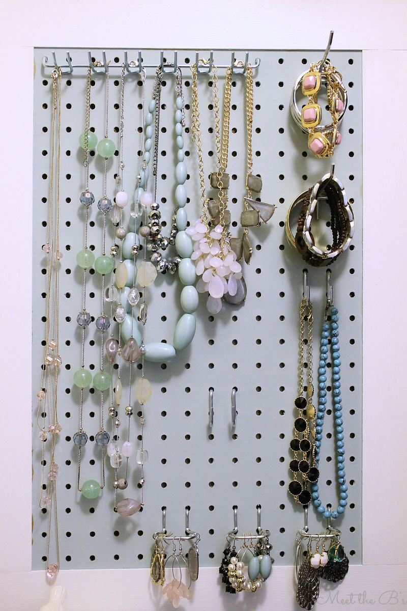 Jewelry Organizer Diy September Monthly Diy Challenge Pegboard Jewelry Organizer The