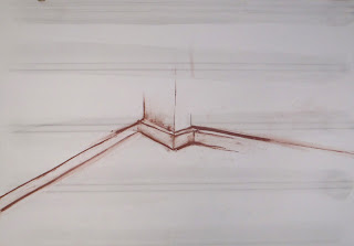 Shop corner 3. red chalk and graphite on paper