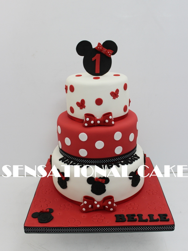 The Sensational Cakes MINNIE MOUSE INSPIRED THEME 3D CAKE SINGAPORE