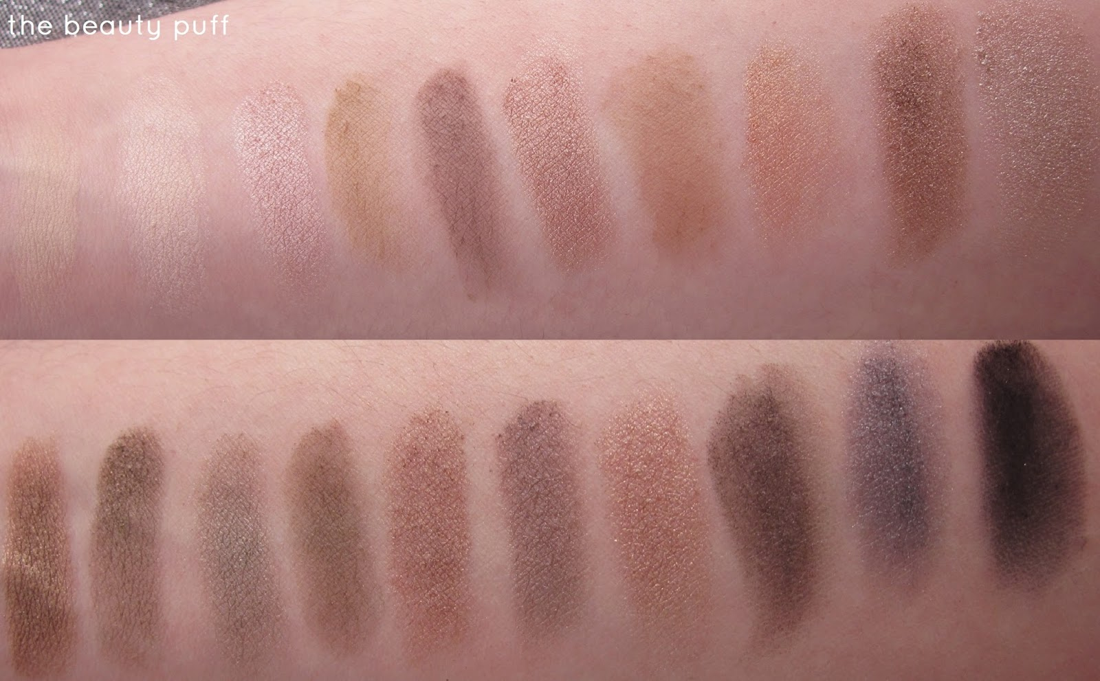 Coastal Scents Revealed Palette Swatches - The Beauty Puff