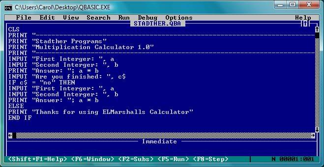 Qbasic adalah bahasa pemrograman tingkat dasar
