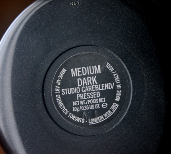 MAC Studio Careblend Powder in Medium Dark Label