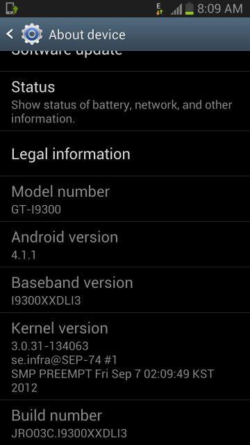 Samsung GALAXY S3 XXDLI3