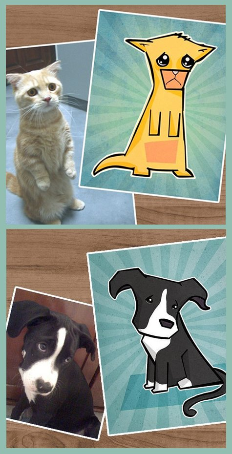 Custom Pet Portraits from Cute Cartoon Portraits