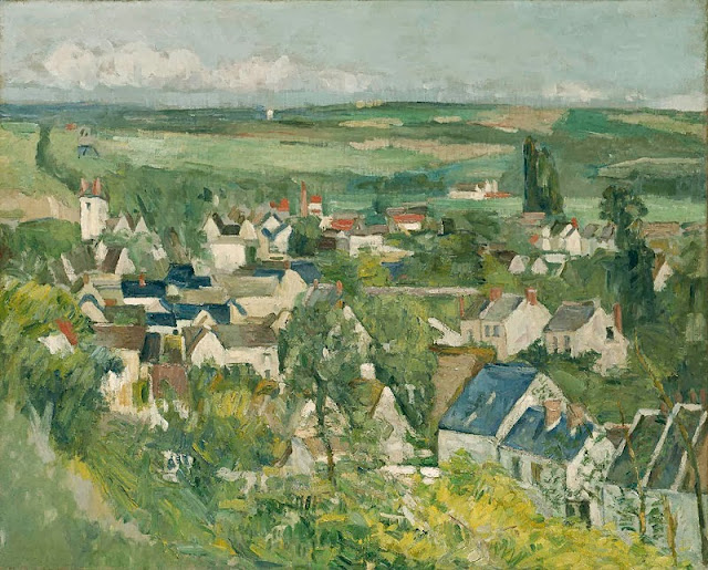 "Picture of Painting ""View of Auvers-sur-Oise"" by Paul Cezanne, 1873, was stolen from Ashmolean Museum in Oxford England in 1999"