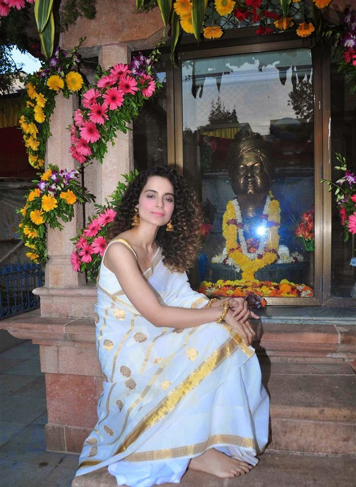 Actress Kangana Ranaut Saree Photos
