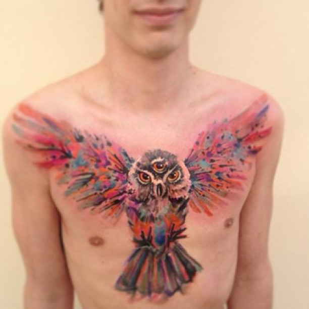 watercolor body painting / tattoos