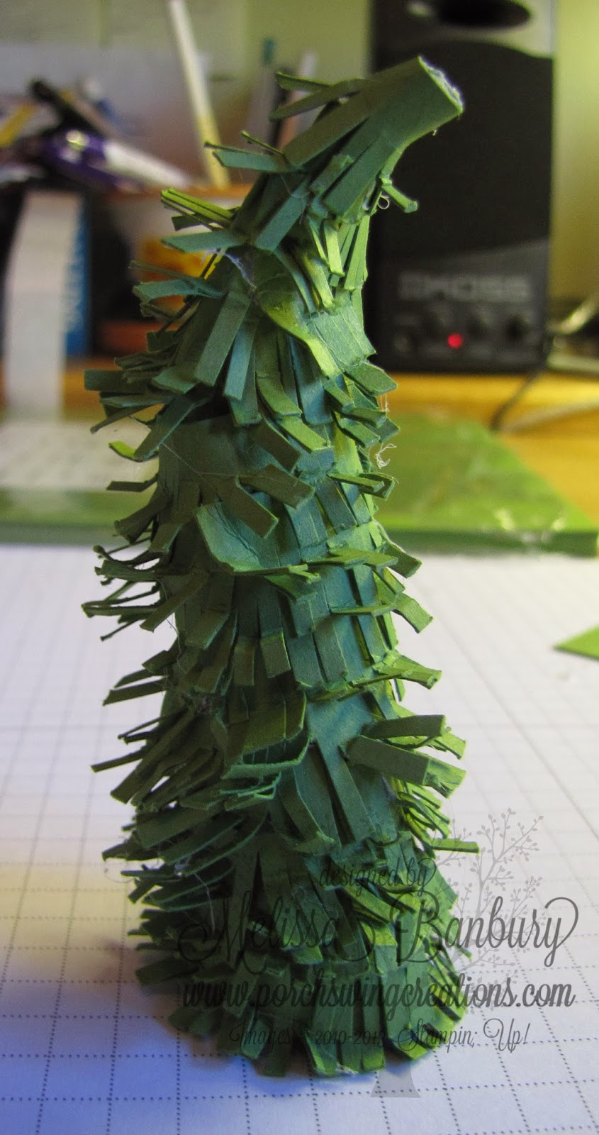 Wrap Ribbon On A Christmas Tree