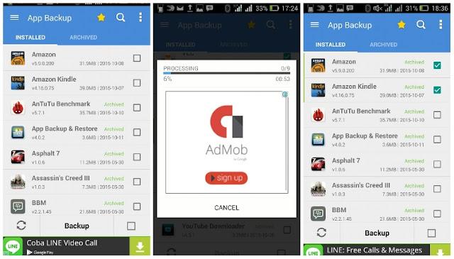 Cara Backup Aplikasi Android dengan App Backup and Restore