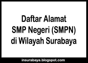 Daftar Alamat SMP Negeri di Surabaya