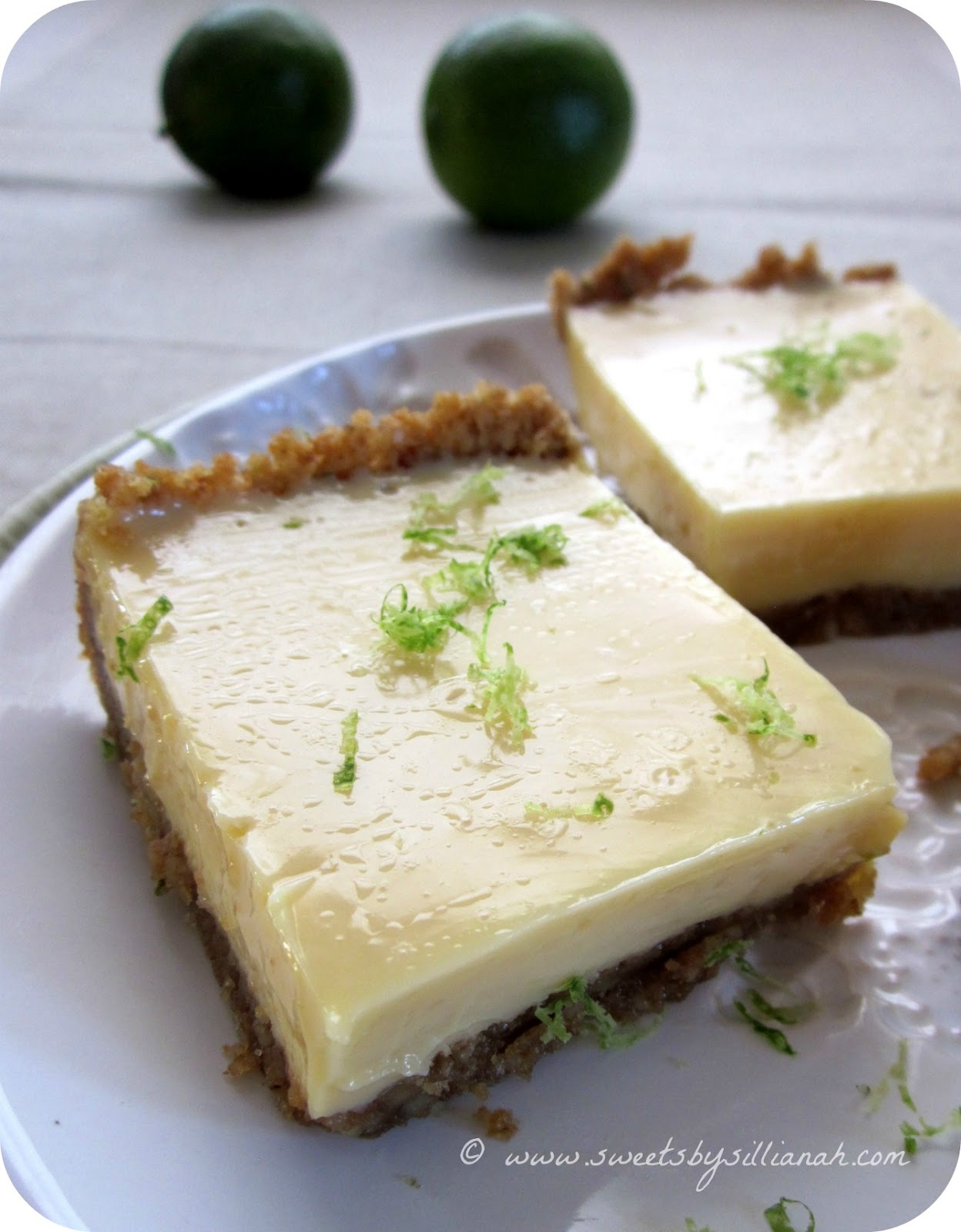 Lime Bars with Walnut-Graham Cracker Crust