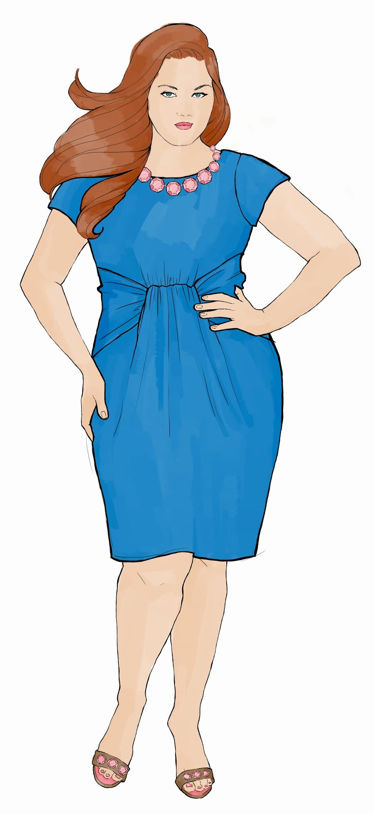 plus-size-fashion-illustration, plus-sized-model-illustration, plus-size-croqui